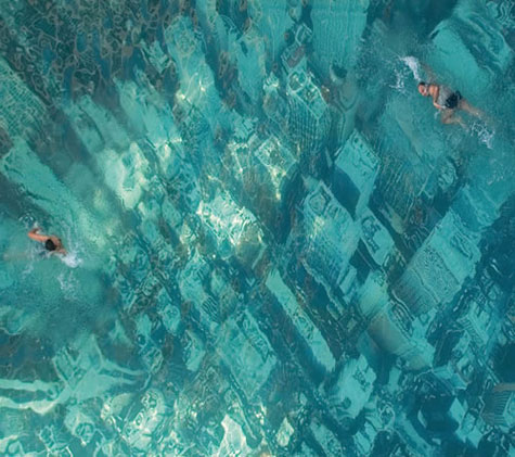 the drowned world swimming pool