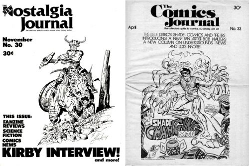 costalgia journal 30 and comics journal 33