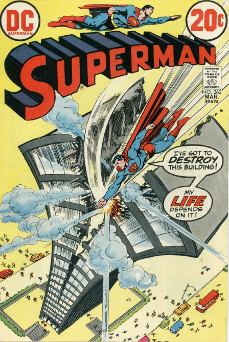 superman vs building, superheroes and cities
